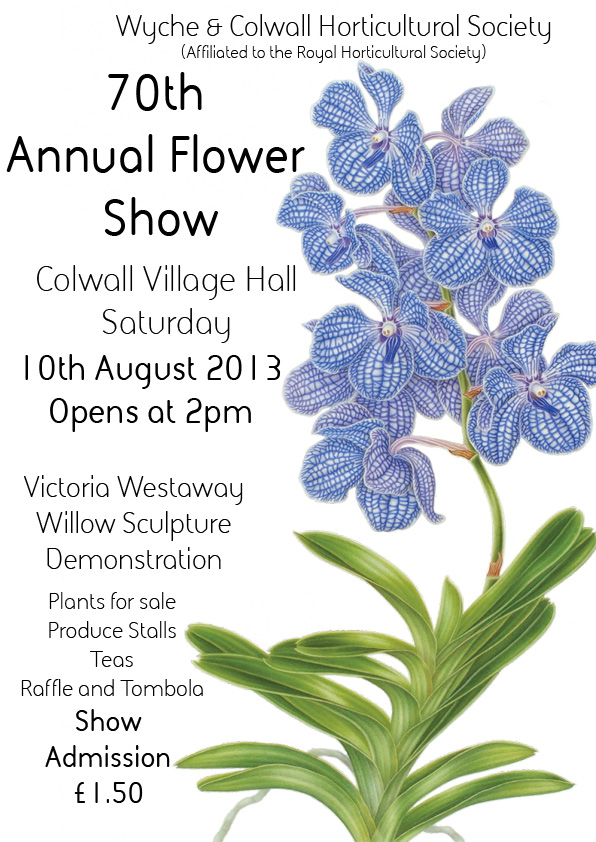 Colwall Horticultural Show Poster