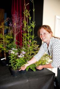 Helen Picton, Show Secretary, arranging prizes